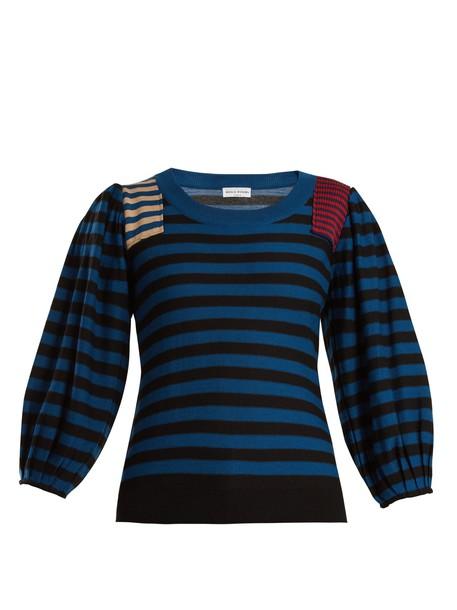 Sonia Rykiel sweater wool knit navy black