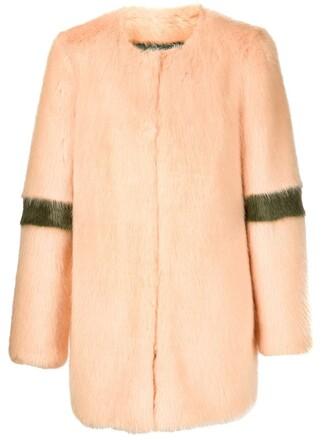 jacket fur yellow orange