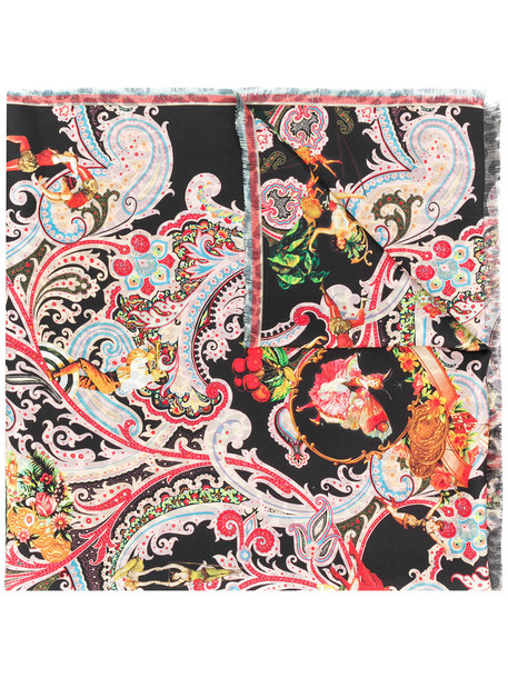 ETRO women scarf print silk