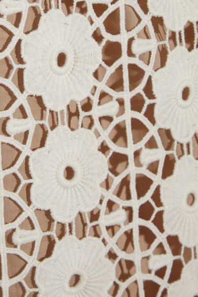 Collette by Collette Dinnigan | Sateen-trimmed lace mini dress | NET-A-PORTER.COM