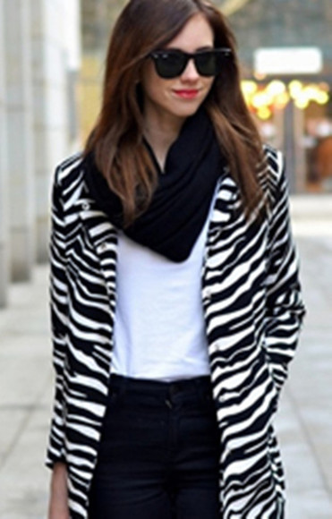 zebra coat stripe clothes top fashion