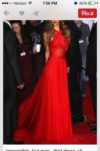 dress red dress rihanna brandy long prom dress