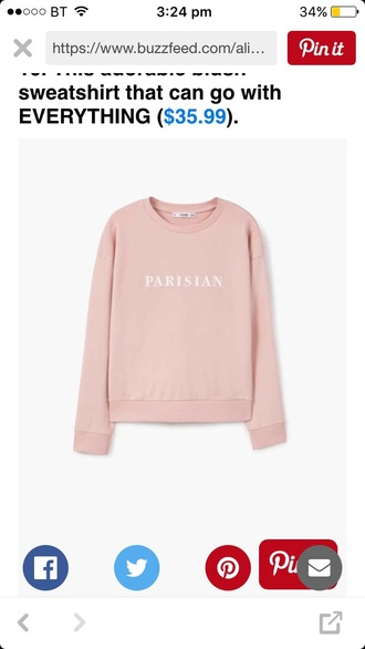 sweater paris pink