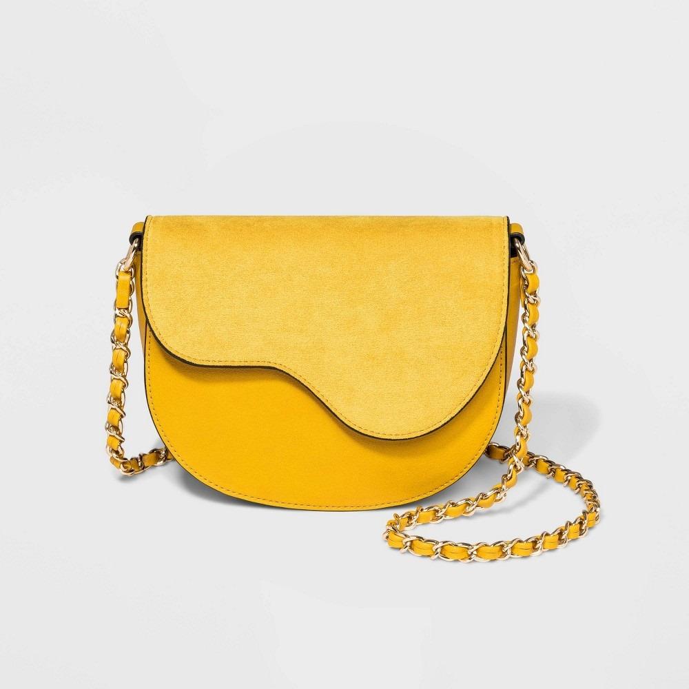 Zip closure crossbody bag - wild fable™ vintage yellow