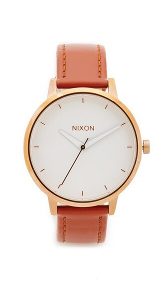 leather watch rose gold rose watch gold leather brown jewels