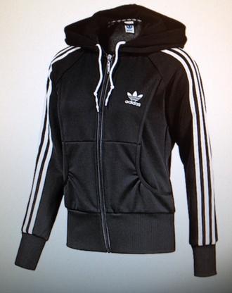 jacket adidas adidas women black black and white