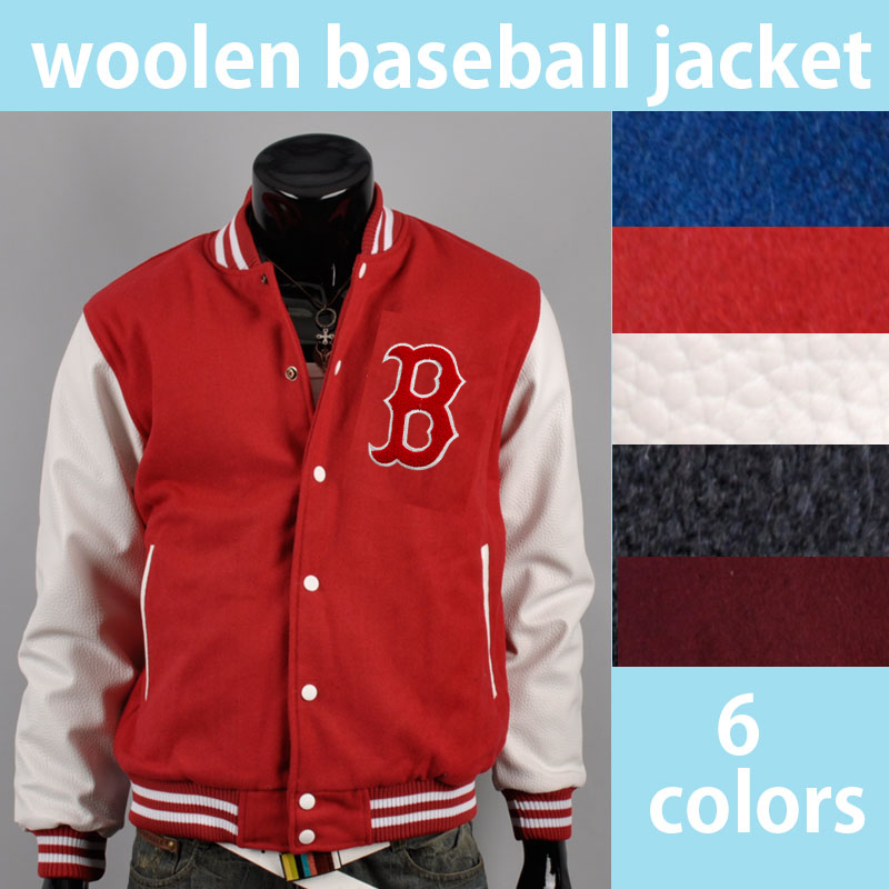 B Chenille Mens Classic Baseball Letterman Varsity College Wool Leather Jacket | eBay