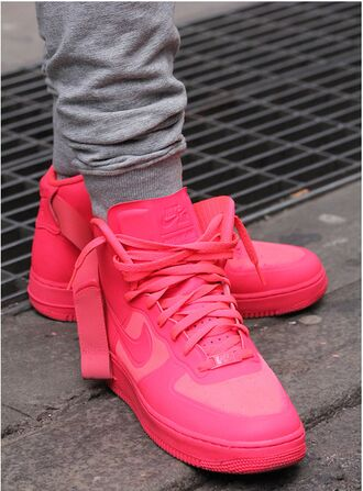shoes nike nike shoes nike air force 1 red red shoes