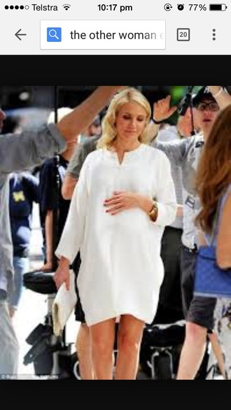 dress white movie the other woman formal celebrity style maternity dress