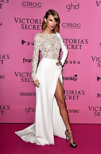dress white dress gown taylor swift classy girly
