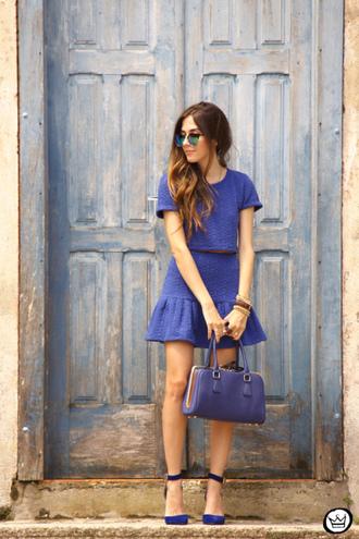 fashion coolture blogger top skirt bag sunglasses shoes