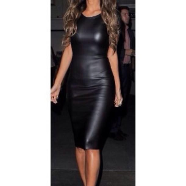 Dress: chic, rad, tumblr, leather, cool, black, love ...