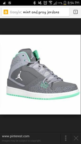 dbba27fbfe9b mint green shoes grey jordans