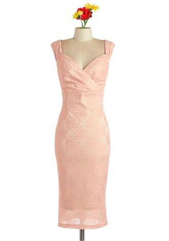 50s style party dress pink dress vintage retro wiggle dress pin up