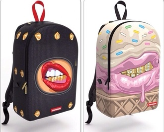 bag back to school bookbag lipstick cute cool fashion style backpack