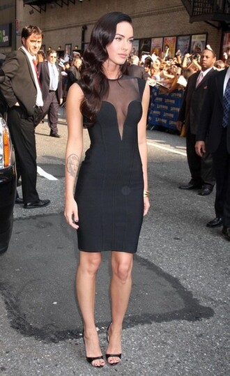 dress megan fox retro dress
