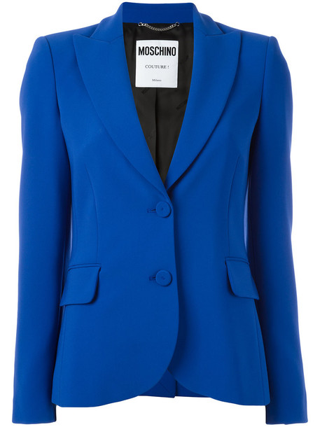 Moschino blazer women blue jacket
