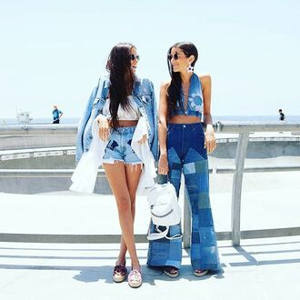 skirt nastygal vintage denim patchwork fashion inspo style outfit trendy boho jeans blogger influencers