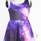 Women aurora space galaxy high waist sleeveless mini short tank top dress | ebay