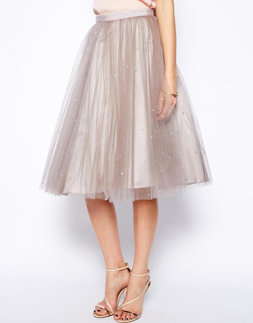 Coast cordelia sparkle skirt at asos.com