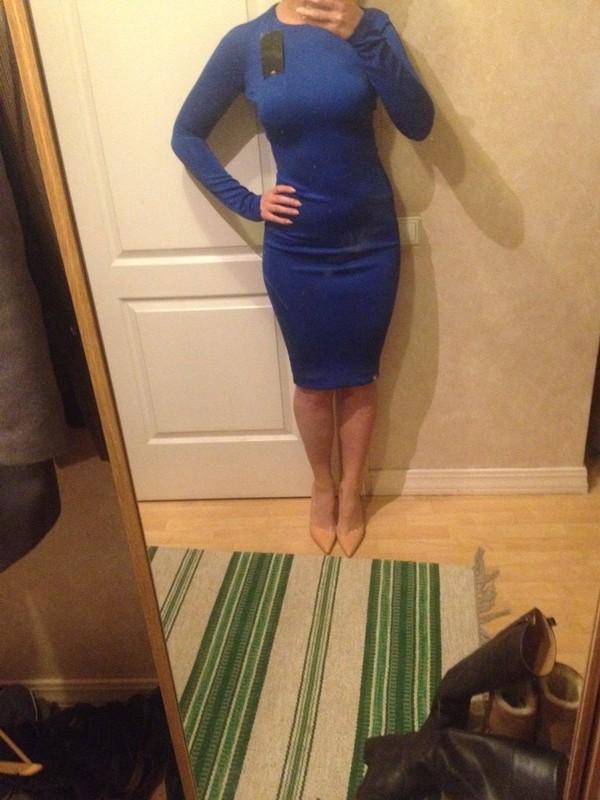 dress zara blue bodycon
