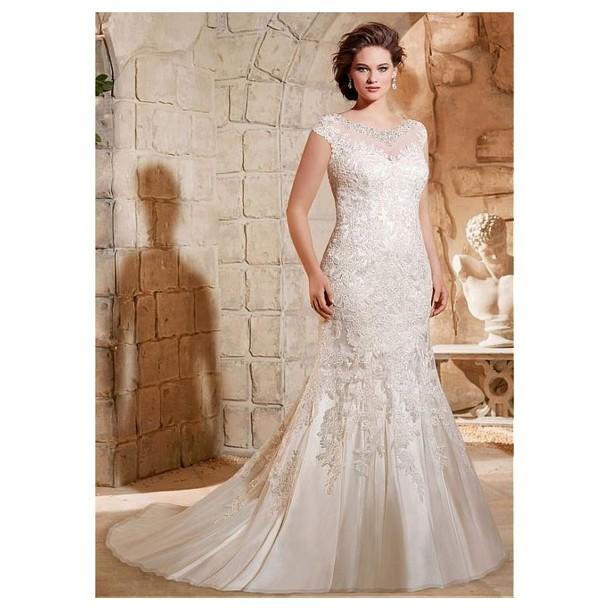dress wedding dress lace dress tulle dress elegant appliques