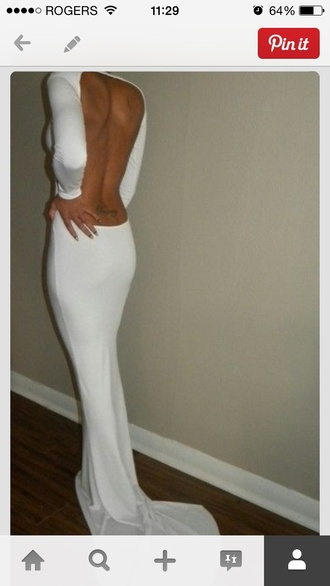 grad open back tight dress