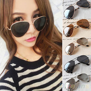 Unisex New Classic Aviator Silver Mirrored Lens Brown Gold Black Sunglasses Bhau | eBay