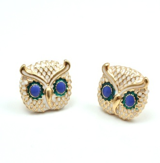 dress owl earrings jewels jewelry gold