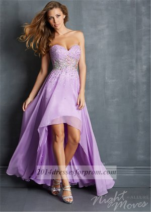 lilac sequins high low prom dresses 2014 sale cheap high