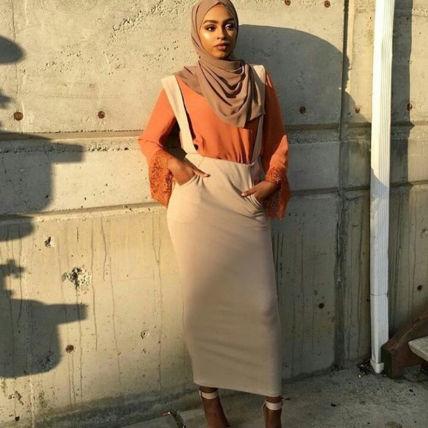 dress orange shirt skirt modest dress