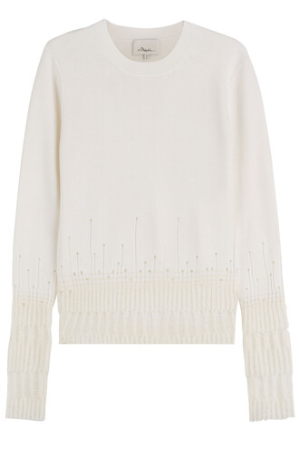 pullover wool white sweater