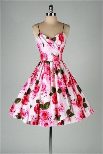 dress pink dress floral dress summer dress rose roses