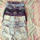 shorts,cute,denim,eyelet,denim shorts,light denim,acid wash,short shorts,short,high waisted,cut off shorts,High waisted shorts
