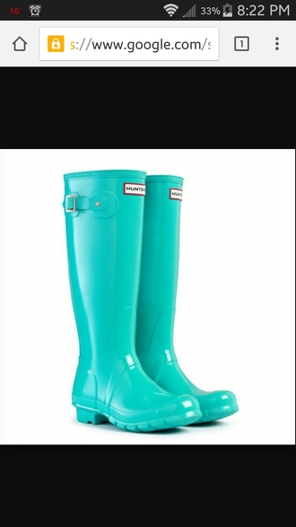 shoes hunter boots blue boots