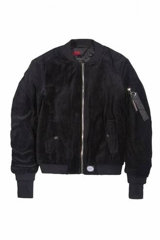jacket black suede bomber jacket leather