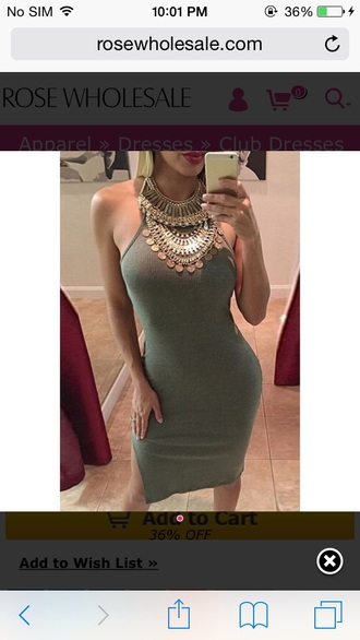 coin necklace statement necklace silver necklace bodycon dress grey dress knitted dress
