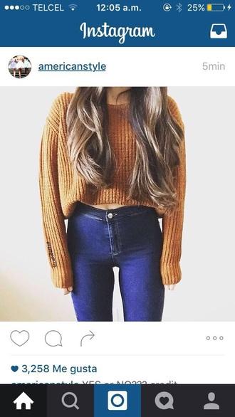 sweater orange cute nice