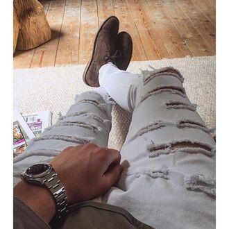 jeans maniere de voir white ripped