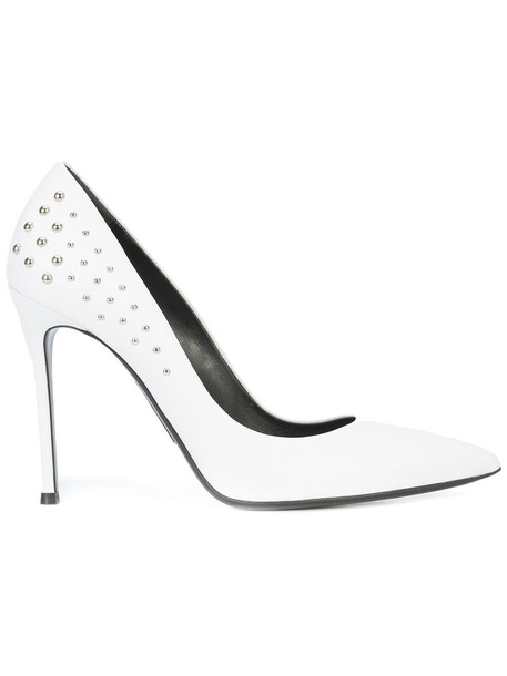 Thomas Wylde women pumps leather white shoes