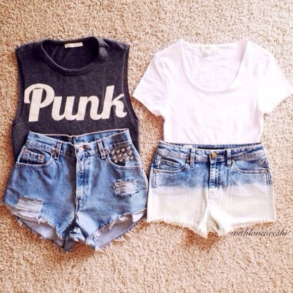 lovely pepa fashion shorts denim shorts streetwear denim blue dress t-shirt