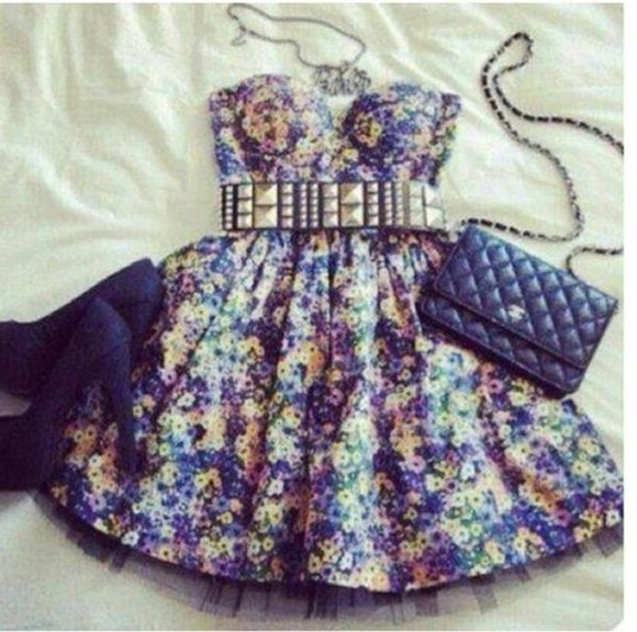 blue swimwear shoes dress strapless dress blue dress chanel