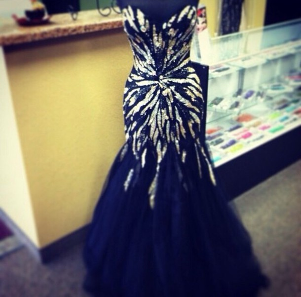 dress, prom dress, prom, black, black prom dress, sparkle ...