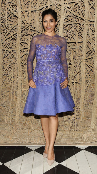 dress gown prom dress freida pinto lace dress