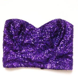 top style icons closet sequins bustier purple bralette