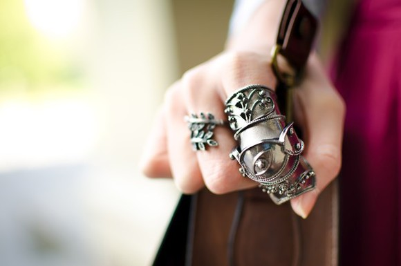 armor ring jewels silver ring