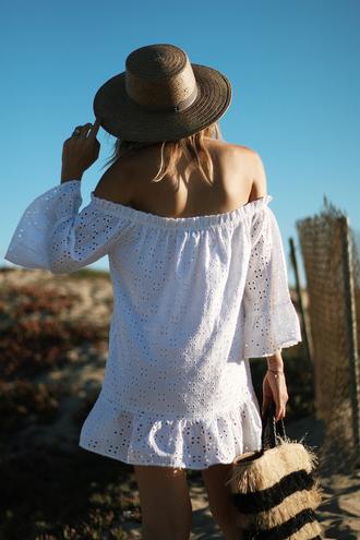 the fashion sight blogger bag dress hat