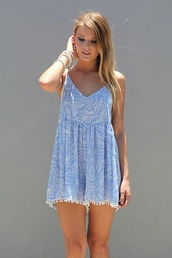 romper,blue,white,skirt,dress,blue dress,summer dress,style,cute dress,boating dress