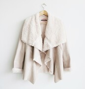 coat,shearling jacket,fluffy,fur,nude,beige