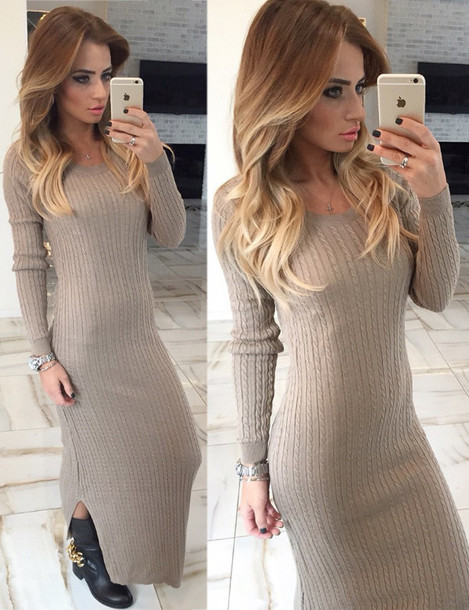 Dress: zefinka, cable knit, knitwear, knitwear dress, sweater ...